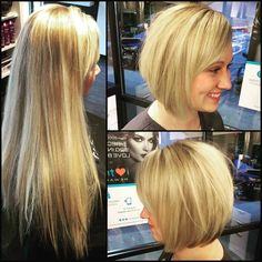 Trios Salon - Hair Salon in Omaha, NE - Do Something Beautiful Hairstyles Haircuts, Summer Hairstyles, Short Styles, Long Hair Styles, Mid Length Bobs, Before And After Haircut, Beautiful Haircuts, Hair Transformation, Short Hair Cuts