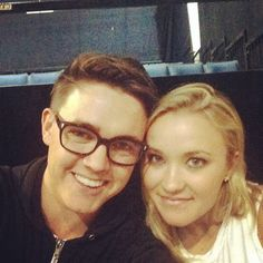 Jesse McCartney and Emily Osment are back on the set of Young & Hungry! We love this selfie!