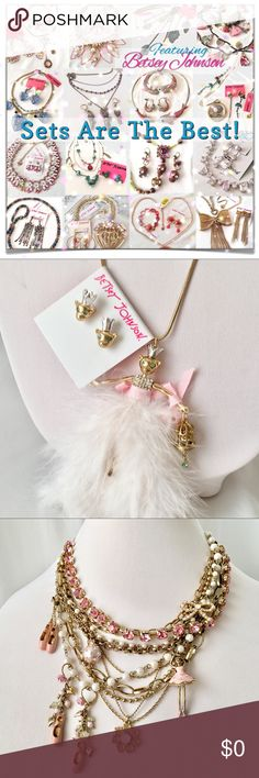 Betsey Johnson Jewelry Sets Are The Best! I love putting jewelry sets together for my customers! This is especially true for retired Betsey jewelry. I enjoy tracking down matching pieces so you don't have to. 😍  If you're looking for something specific, let me help...at no extra cost. Need help building a set? No problem!   Come on in and check out my Push Closet. And come back again soon. Holiday shopping is underway and I'll be adding new listings! 🎄🎁🛍🎄 Betsey Johnson Jewelry