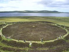 The Ring Of Brodgar  Kirkwall, Orkney, Scotland.......photo of the whole thing which is great to see.
