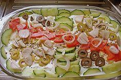 Griechischer Schichtsalat (Rezept mit Bild) von börgit | Chefkoch.de