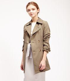 ROPÉ PICNIC(ロペピクニック) ミドル丈トレンチコート Middle trench coat  KHAKI  #J'aDoRe JUN ONLINE #J'aDoRe Magazine