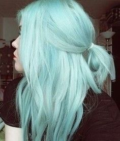 how to get pastel hair - Hair Style Twisted Hair, Coloured Hair, Dye My Hair, Cool Hair Color, Aqua Hair Color, Pastel Hair Colors, Teal Hair, Mint Green Hair Dye, Pastel Green Hair