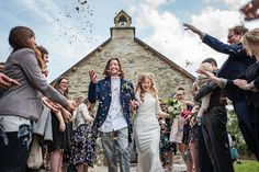 Private church wedding at Fron Farm Yurt Retreat. A unique and unusual wedding venue in West Wales.