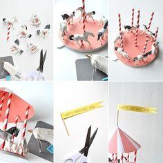 Turn them into unicorns Carousel Birthday Parties, Circus Birthday, First Birthday Parties, Happy Birthday, Birthday Cake, Party Animals, Animal Party, Zoo Animals, Carousel Cake