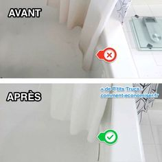 C'est vrai qu'un rideau de douche a tendance à se salir très vite... Il jaunit et les moisissures s'incrustent rapidement à force de l'utiliser. Mais pas besoin d'en acheter un nouveau, ni d'utiliser de la Javel !  Découvrez l'astuce ici : http://www.comment-economiser.fr/comment-nettoyer-rideau-douche-avec-bicarbonate-facile.html?utm_content=bufferb0e7b&utm_medium=social&utm_source=pinterest.com&utm_campaign=buffer