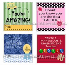 32 FREE Printable Tags for Teacher Appreciation Gifts!