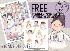 Free Printable Angels Planner Stickers {with bonus die cuts} from Victoria Thatcher