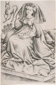 ab. 1435-1455 Master of the Playing Cards - The Queen of Stags