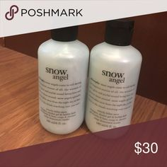 🆕Philosophy 3-n-1 Shower Gel THIS IS A MULTIPLE LISTING FOR 2. Philosophy Snow Angel shampoo, shower gel and bubble bath Gentle enough for everyday use 6oz. shower gel, bubble bath and shampoo Makeup