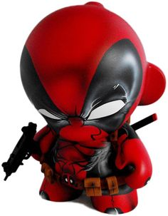 #dailycustom 'Deadpool' by Fuller Designs. Custom #munny #marvel