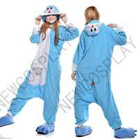 a8d37e23fa 2015 Hot Sale Unisex Cosplay Cute Animal Onesie Pajamas Costume Doraemon Onesie  Adult Onesie Pajamas