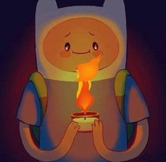 Aww! Finn and Flame Princess! :) Adventure Time