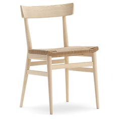 Nika chairs from Sandler Seating. Woven seat on solid wood frame.