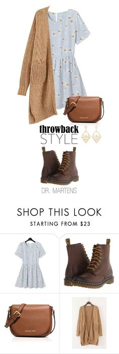 """Throwback Style: Dr. Martens"" by boxthoughts on Polyvore featuring Rebecca, Dr. Martens, MICHAEL Michael Kors, Charlotte Russe, DrMartens and throwbackstyle"