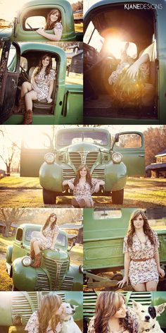Senior Girl Photography - Senior Portraits - Vintage Truck | Photos by KJane Designs