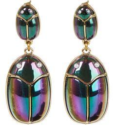 Lulu Frost Gold-Tone Scarab Pair Earrings | Jewellery | Liberty.co.uk