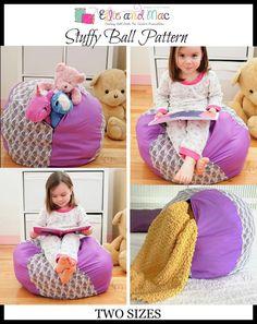 OMG! A Stuffed animal storage bean bag! My kids need this sewing pattern!