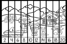 These free Christmas skip counting puzzles are a fun way to practice skip counting by and There are links to more free puzzles, too! Skip Counting Activities, Counting Puzzles, Christmas Math, Christmas Activities, Color Puzzle, Early Learning, Numbers, School Ideas, Homeschool