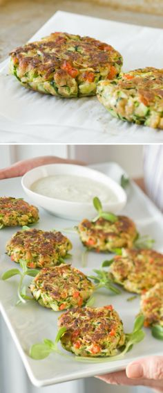 Complete with how-to video! Old Bay seasoning added to these veggie-based fritters makes them taste a bit like crab cakes. Lovely for an appetizer, main dish, or side dish. // Zucchini Cakes Recipe
