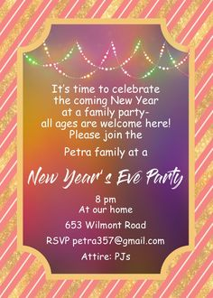 New Year Party 2021 Invitation Wehkah Newyear2021gifts Site