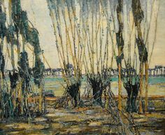 Hale Woodruff - Normandy Landscape, 1928 at Baltimore Museum of Art