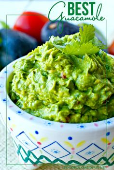 Guacamole Recipe – The Best EVER! This recipe is the best because it's simple, classic, and downright good! It's also quick & easy to make! #CAavoSeason