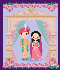 Cute Indian Bride And Groom In Rajasthani Wedding Style For Wedding Invitation Card <br> Discover thousands of Premium vectors available in AI and EPS formats Illustrated Wedding Invitations, Indian Wedding Invitation Cards, Wedding Invitation Background, Wedding Invitation Card Template, Wedding Cards, Invitation Set, Wedding Card Design Indian, Indian Wedding Couple, Indian Bride And Groom