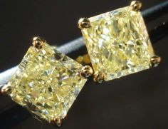 canary yellow diamond studs