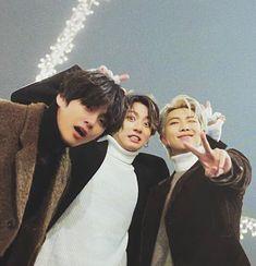 taehyung, jungkook and namjoon Namjoon, Jungkook Jimin, Bts Taehyung, Bts Bangtan Boy, Bts Group Picture, Bts Group Photos, Foto Bts, Taekook, Bts Love
