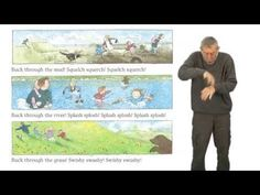 Michael Rosen performing 'We're going on a bear hunt.'   Lottie loves this book already! (14 months old)