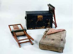 Officers campaign furniture note the campaign furniture was carried in a linen or canvas bag