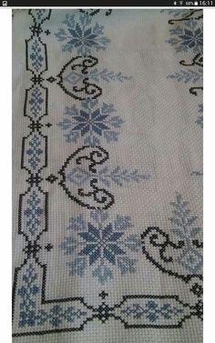Cross Stitch Borders, Cross Stitch Flowers, Cross Stitch Charts, Cross Stitching, Cross Stitch Embroidery, Cross Stitch Patterns, Needlepoint Stitches, Needlework, Palestinian Embroidery