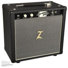 Dr. Z CARMEN GHIA 1x10 Combo Black with Salt & Pepper Grill | 1x10 Combo 18 Watts | Chicago Music Exchange
