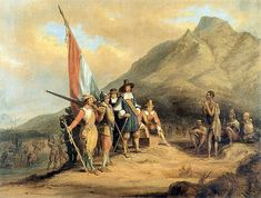 History Here is a historical picture of Jan van Riebeeck, a dutch man who was the first European to settle in South Africa (and was founder of Cape Town). Soon, more of the Dutch would come and try to colonize South Africa, until the British intervened. Pretoria, Holland, Cape Colony, East India Company, Dutch Golden Age, Cape Town South Africa, Cultural Appropriation, African History, Great Places