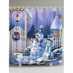 SHARE & Get it FREE | Merry Christmas Snowmen Print Waterproof Bathroom Shower CurtainFor Fashion Lovers only:80,000+ Items·FREE SHIPPING Join Dresslily: Get YOUR $50 NOW!