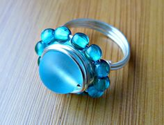 The Ocean is Calling Wire Wrapped Ring by GretchenHindDesigns, $21.00