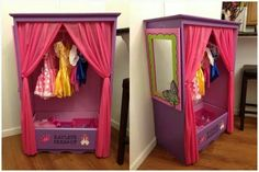 Cute dress up cupboard made out of an old dresser