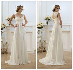 Beach Wedding Dress, Beach Wedding Gown, Chiffon Wedding Dress ...