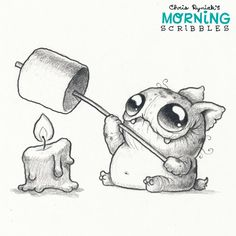 Dammit he's sooooo CUTE!! | Morning Scribbles by Chris Ryniak