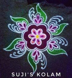 Ideas for nature mandalas art Easy Rangoli Designs Diwali, Rangoli Simple, Rangoli Designs Latest, Rangoli Designs Flower, Free Hand Rangoli Design, Rangoli Border Designs, Small Rangoli Design, Rangoli Patterns, Rangoli Colours