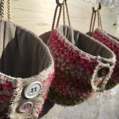 Tři košíčky s knoflíčky Straw Bag, Bags, Handbags, Bag, Totes, Hand Bags