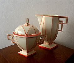 Kubista Replica sugar bowl & milk jug