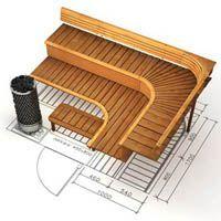 L-shape sauna seats for people Sauna Steam Room, Sauna Room, Jacuzzi, Sauna Design, Design Design, Interior Design, Building A Sauna, Sauna House, Big Bathtub