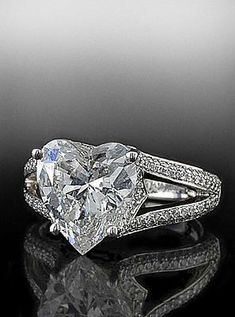 So romantic! Heart Shape diamond with split shank mounting.  By Bez Ambar.  Available at Alson Jewelers.