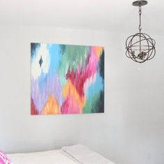 Learn how to make beautiful, abstract canvas art for your home. Anyone can do it!