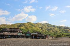 Souvenir Shops at Bangui Windmills and its dramatic landscape of beautiful mountains.
