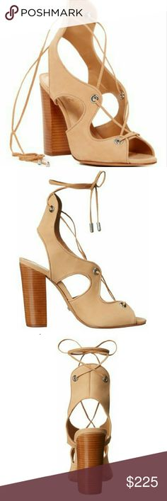 SCHUTZ Nubuck Ankle Wrap Stacked Heel Sandals **NO TRADES WHATSOEVER**  SCHUTZ Nubuck Ankle Wrap Stacked Heel Sandals BRAND NEW, NEVER WORN SIZE: 6 NO ORIGINAL BOX  I work in L.A as a wardrobe stylist for film and television. All my items are authentic and come from high end boutiques or stores. SCHUTZ Shoes