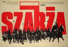 Jakub Erol 'Szarza/Charge', polish movie- Polish Poster, 1981