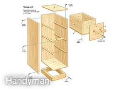 Get the #DIY #plans for sturdy garage storage drawers: http://www.familyhandyman.com/garage/storage/diy-garage-storage-super-sturdy-drawers/view-all
